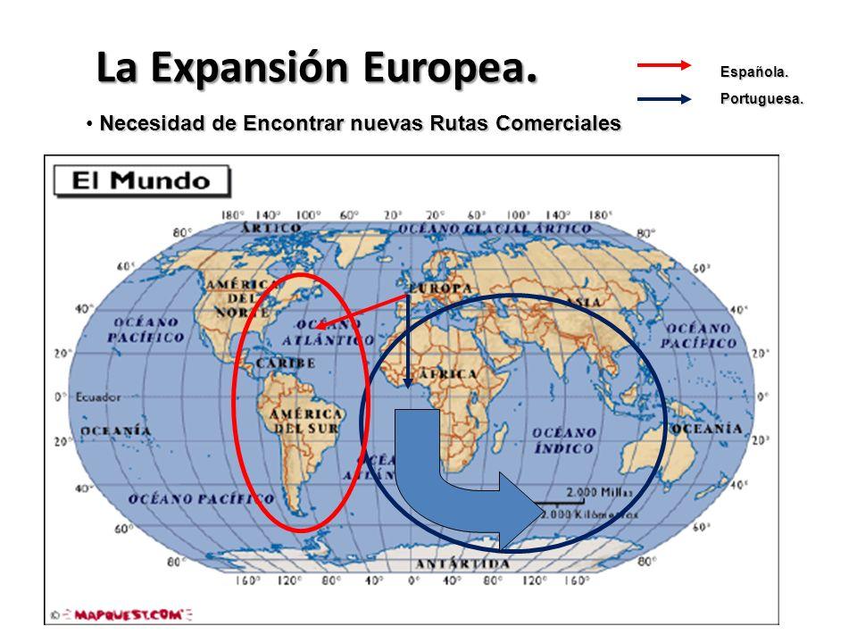 La Expansión Europea. Española. Portuguesa. Necesidad de Encontrar nuevas Rutas Comerciales