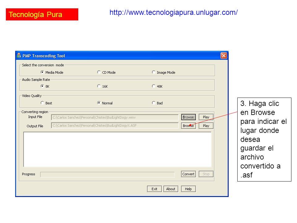 Tecnología Pura http://www.tecnologiapura.unlugar.com/ 3.