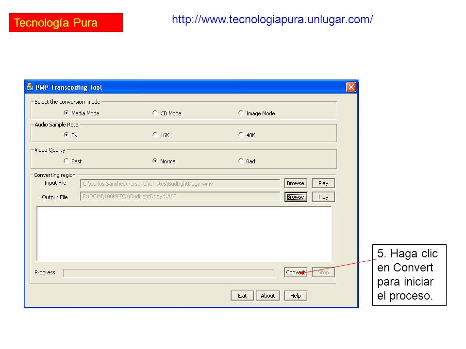 Tecnología Pura http://www.tecnologiapura.unlugar.com/ 5.