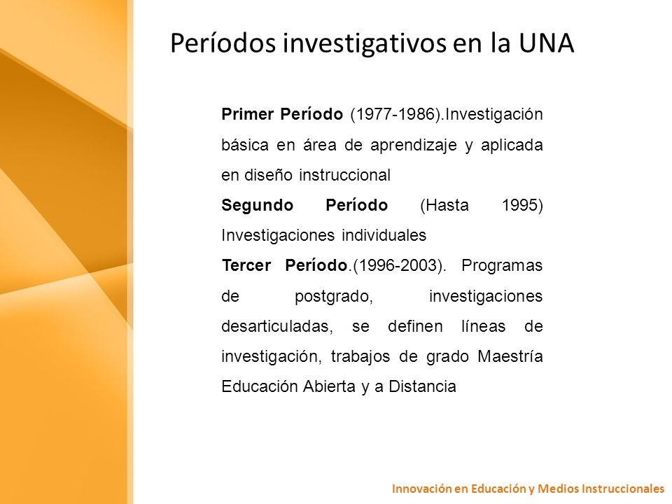 Innovación en Educación y Medios Instruccionales Cuarto Período.