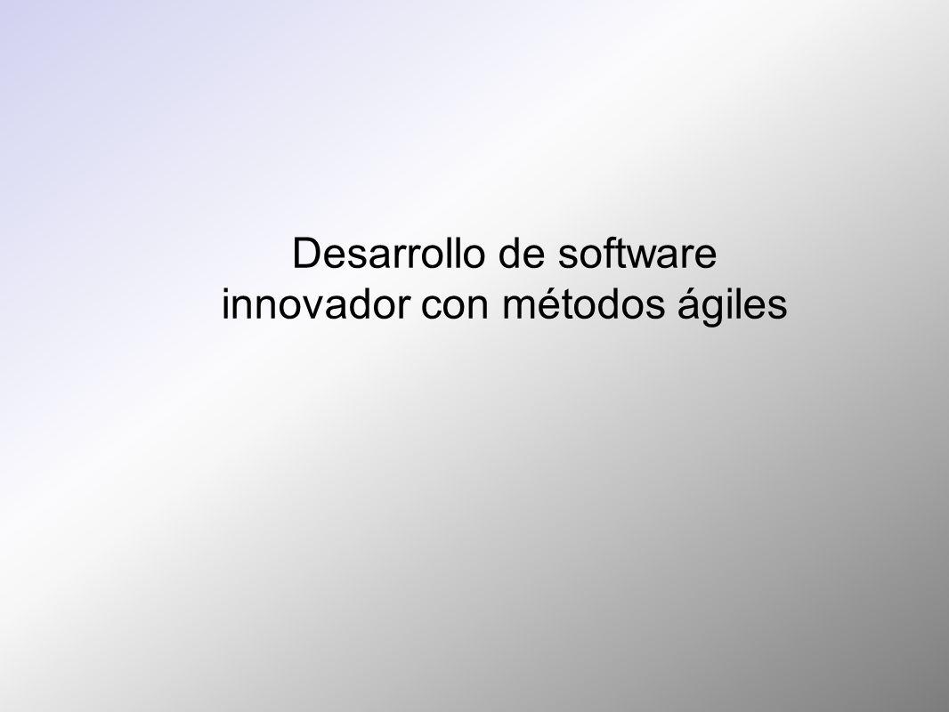 Desarrollo de software innovador con métodos ágiles