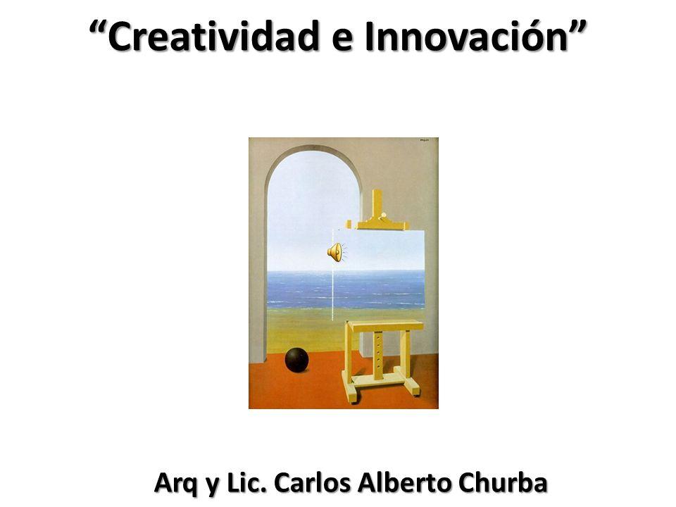 Creatividad e Innovación Arq y Lic. Carlos Alberto Churba Arq y Lic. Carlos Alberto Churba