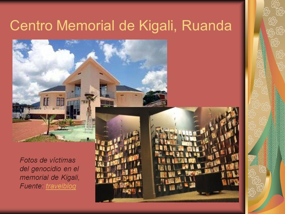 Fotos de víctimas del genocidio en el memorial de Kigali, Fuente: travelblogtravelblog