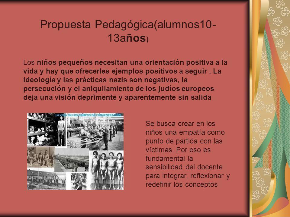 Propuesta Pedagógica(alumnos10- 13años ) Los niños pequeños necesitan una orientación positiva a la vida y hay que ofrecerles ejemplos positivos a seg