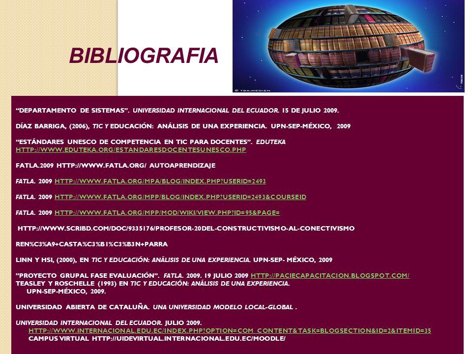 DEPARTAMENTO DE SISTEMAS. UNIVERSIDAD INTERNACIONAL DEL ECUADOR.