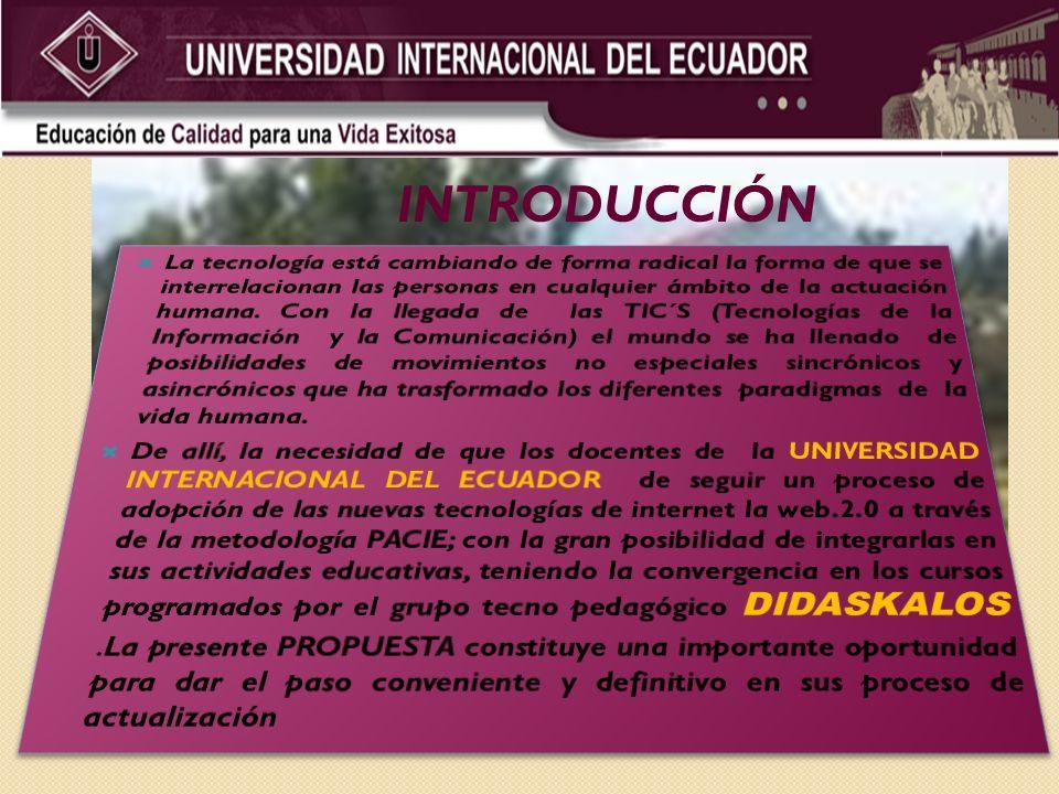 PRESENCIA Comunicación centrada en los Campus Virtuales, creando una presencia Institucional en el mundo de internet.