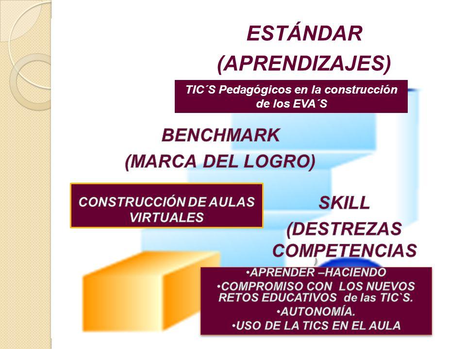 ESTÁNDAR (APRENDIZAJES) TIC´S Pedagógicos en la construcción de los EVA´S