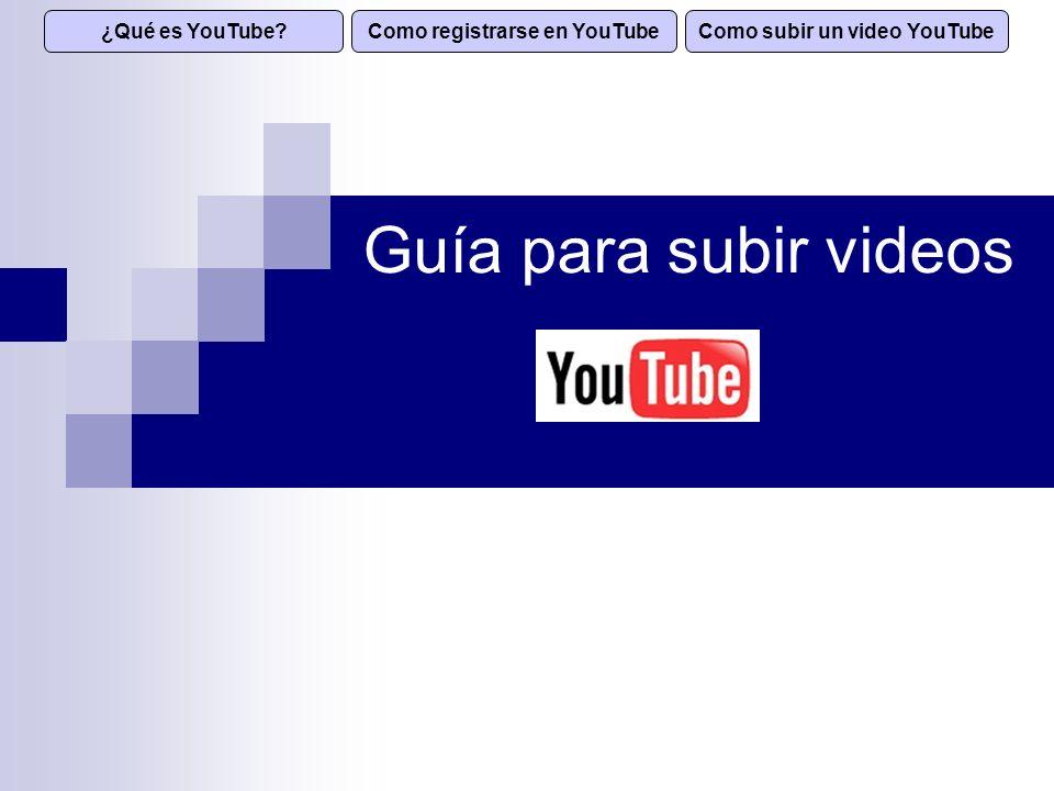 YouTube es un sitio Web que permite a los usuarios compartir videos digitales a través de Internet.