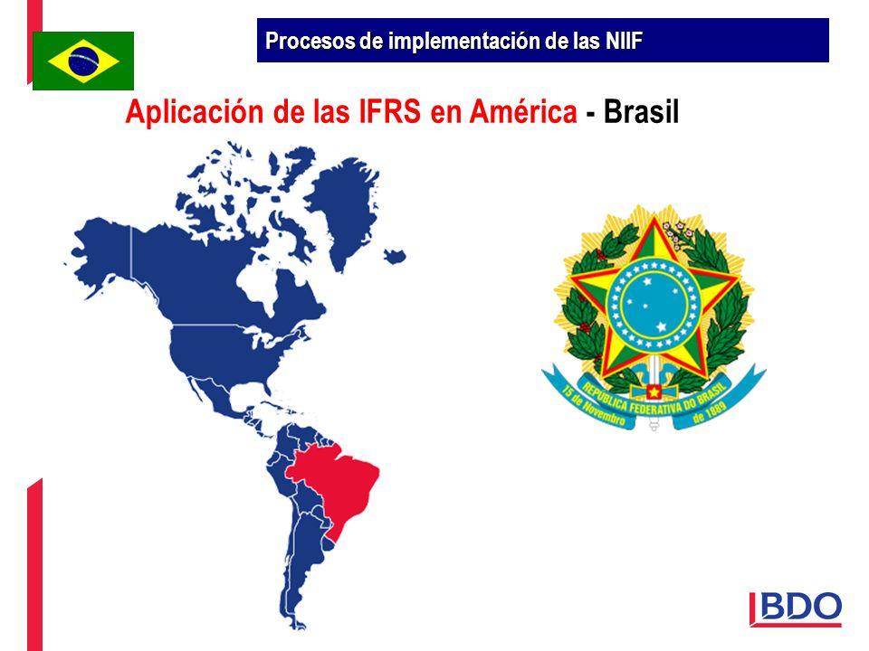 Aplicación de las IFRS en América - Brasil Procesos de implementación de las NIIF