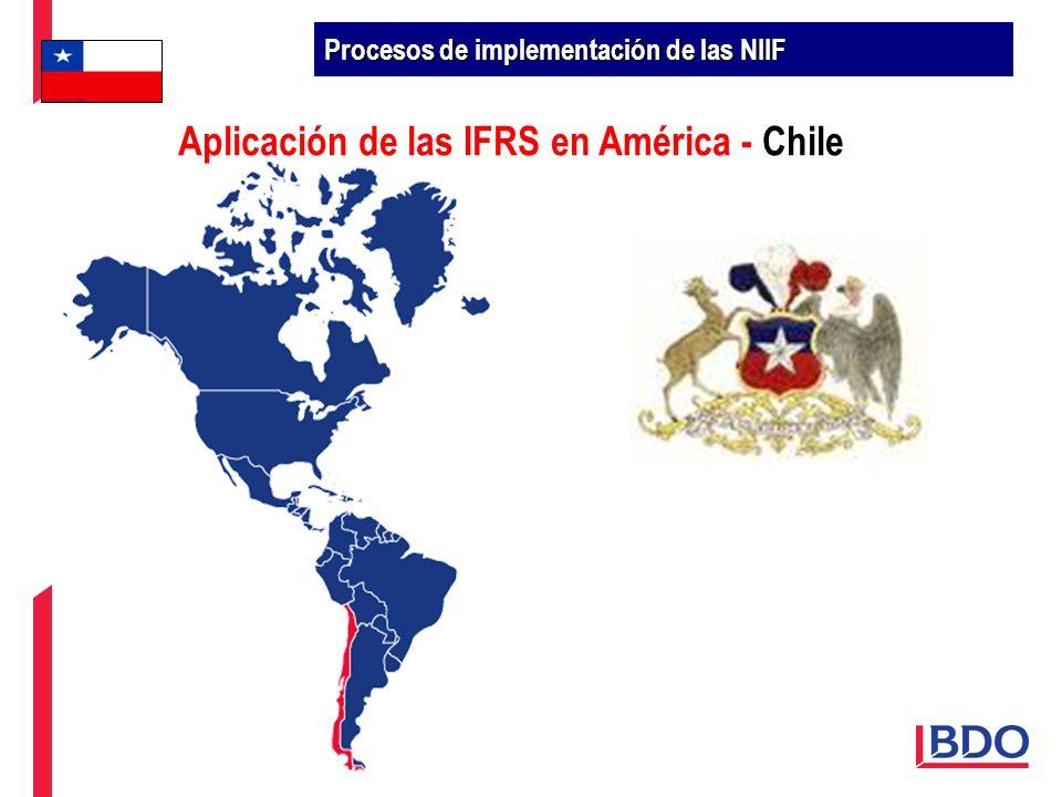 Aplicación de las IFRS en América - Chile Procesos de implementación de las NIIF