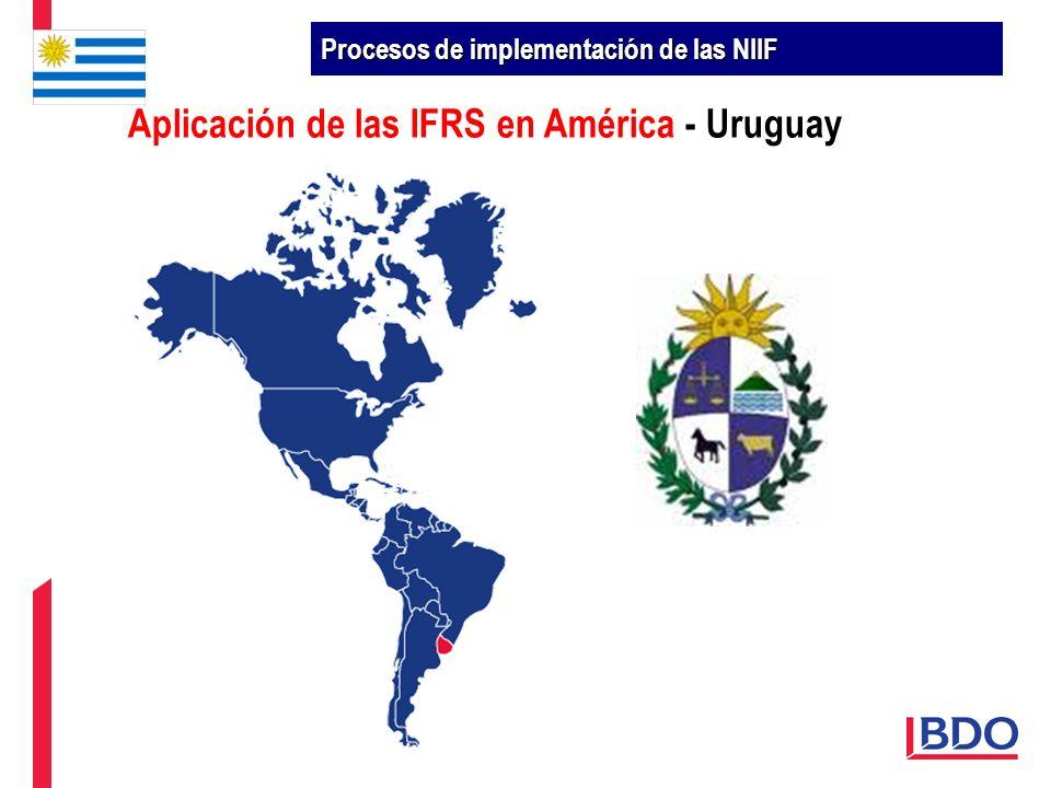Aplicación de las IFRS en América - Uruguay Procesos de implementación de las NIIF