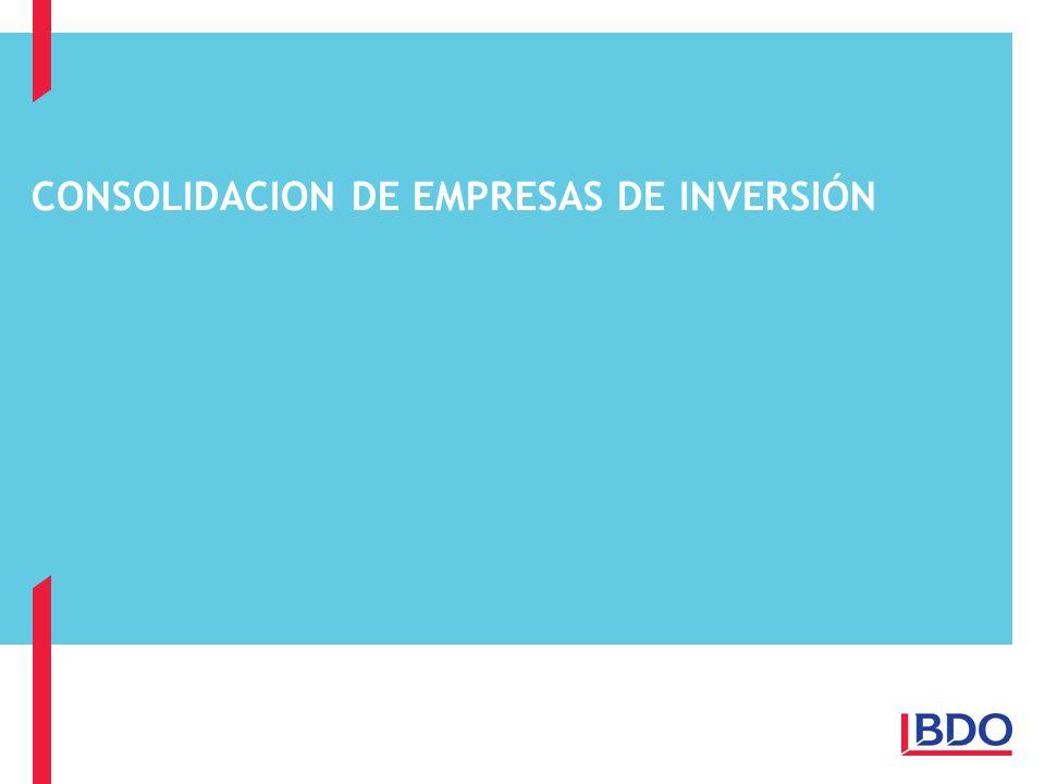 CONSOLIDACION DE EMPRESAS DE INVERSIÓN