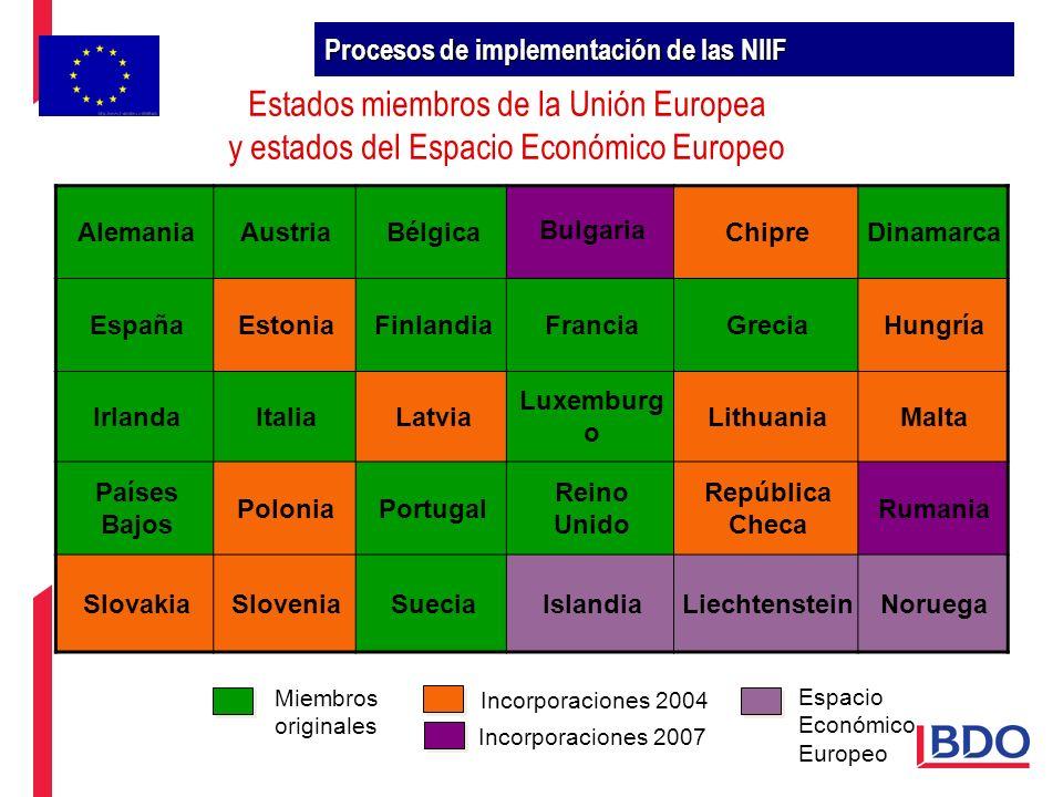 Estados miembros de la Unión Europea y estados del Espacio Económico Europeo AlemaniaAustriaBélgica Bulgaria ChipreDinamarca EspañaEstoniaFinlandiaFra