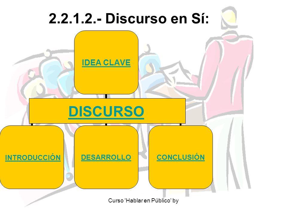 2.2.1.2.- Discurso en Sí: DISCURSO