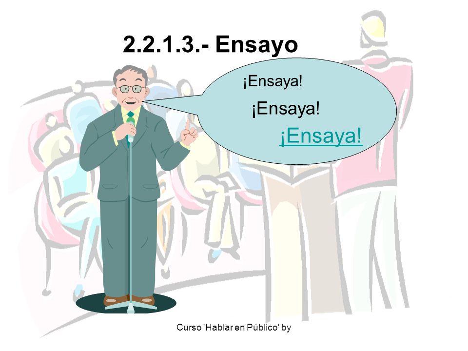 Curso 'Hablar en Público' by 2.2.1.3.- Ensayo ¡Ensaya!