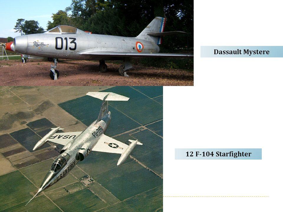 12 F-104 Starfighter Dassault Mystere