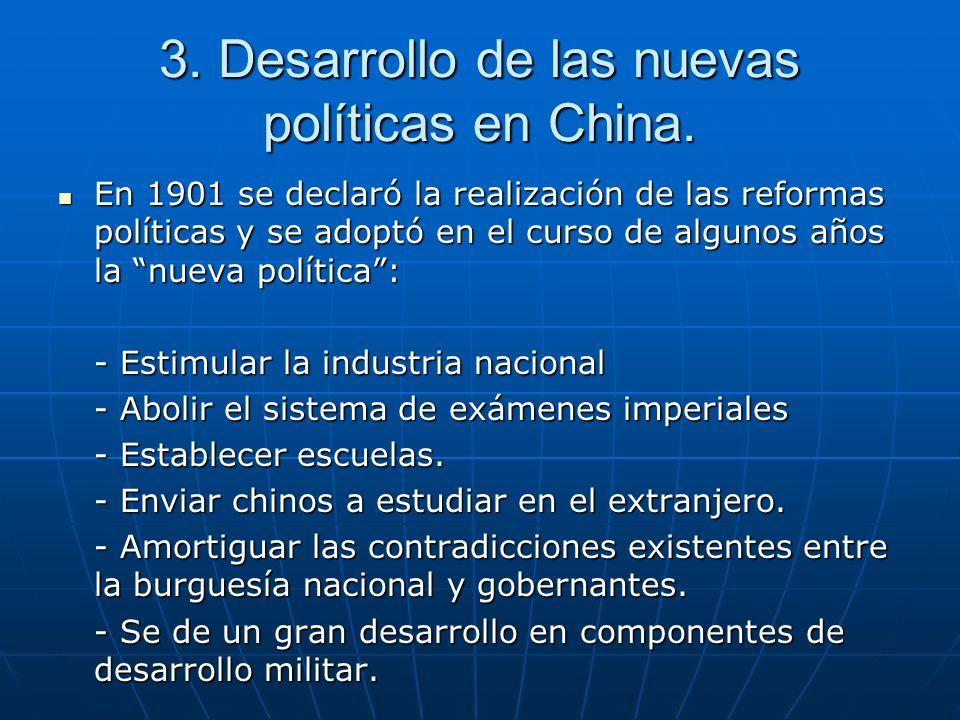3.Desarrollo de las nuevas políticas en China.