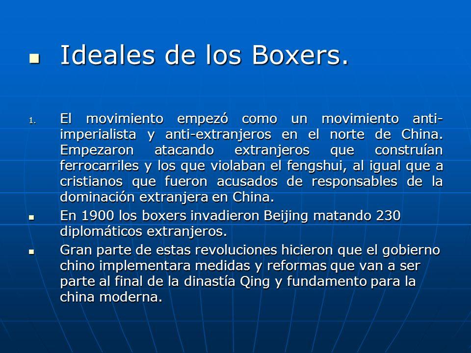 Ideales de los Boxers.Ideales de los Boxers. 1.