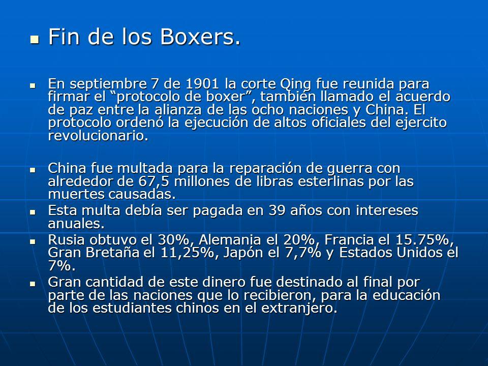 Fin de los Boxers.Fin de los Boxers.