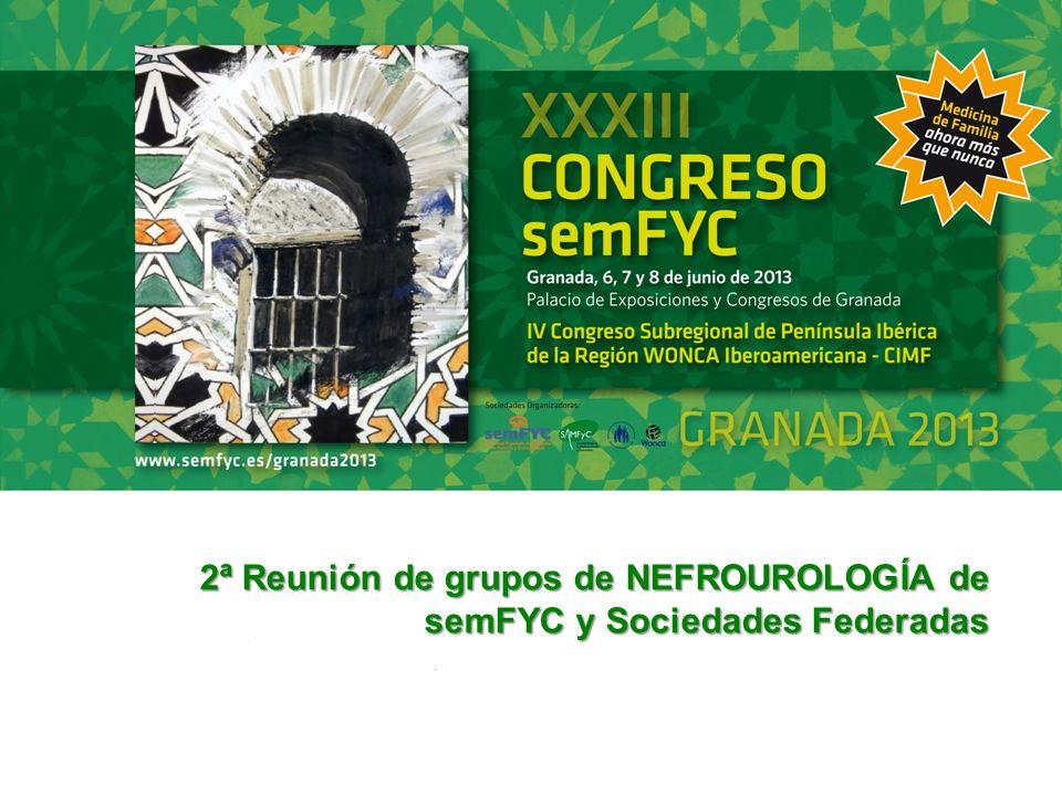ASISTENTES 2ª REUNIÓN DEL Grupo de NEFROUROLOGÍA de semFYC, 2013.