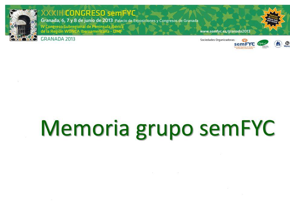 Memoria grupo semFYC