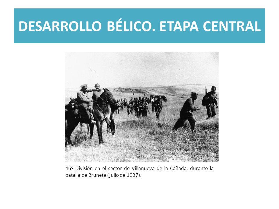DESARROLLO BÉLICO. ETAPA CENTRAL 46º División en el sector de Villanueva de la Cañada, durante la batalla de Brunete (julio de 1937).