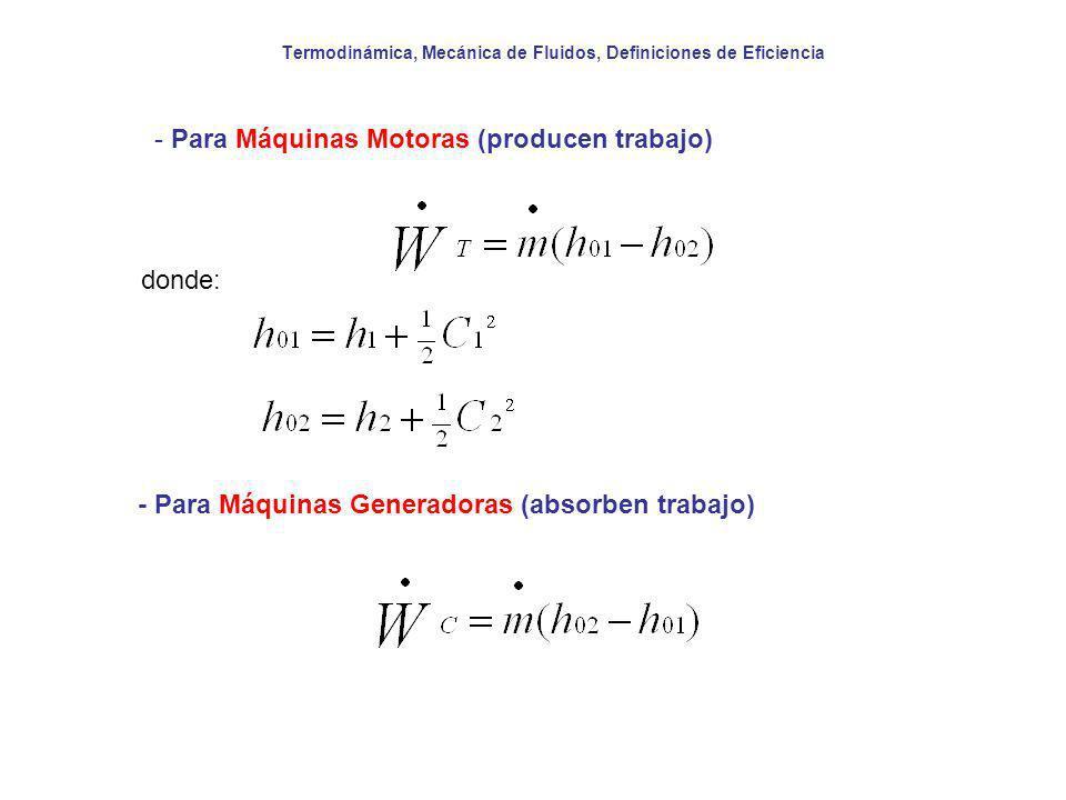 Termodinámica, Mecánica de Fluidos, Definiciones de Eficiencia 3.