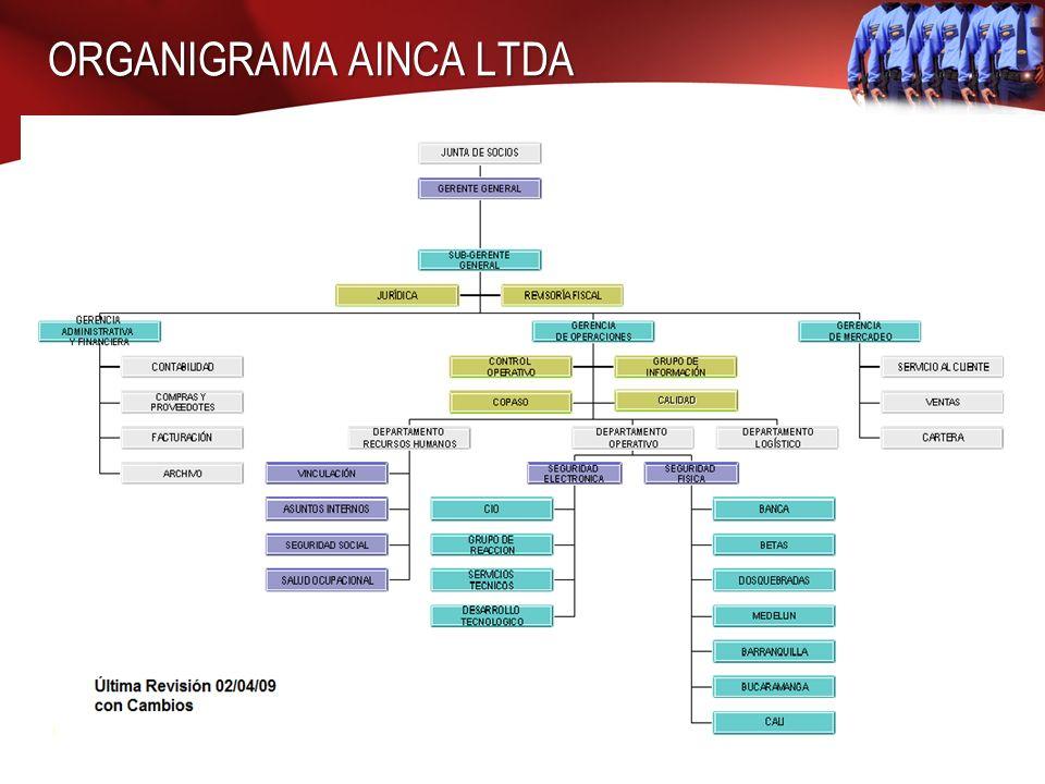 ORGANIGRAMA AINCA LTDA 8 001