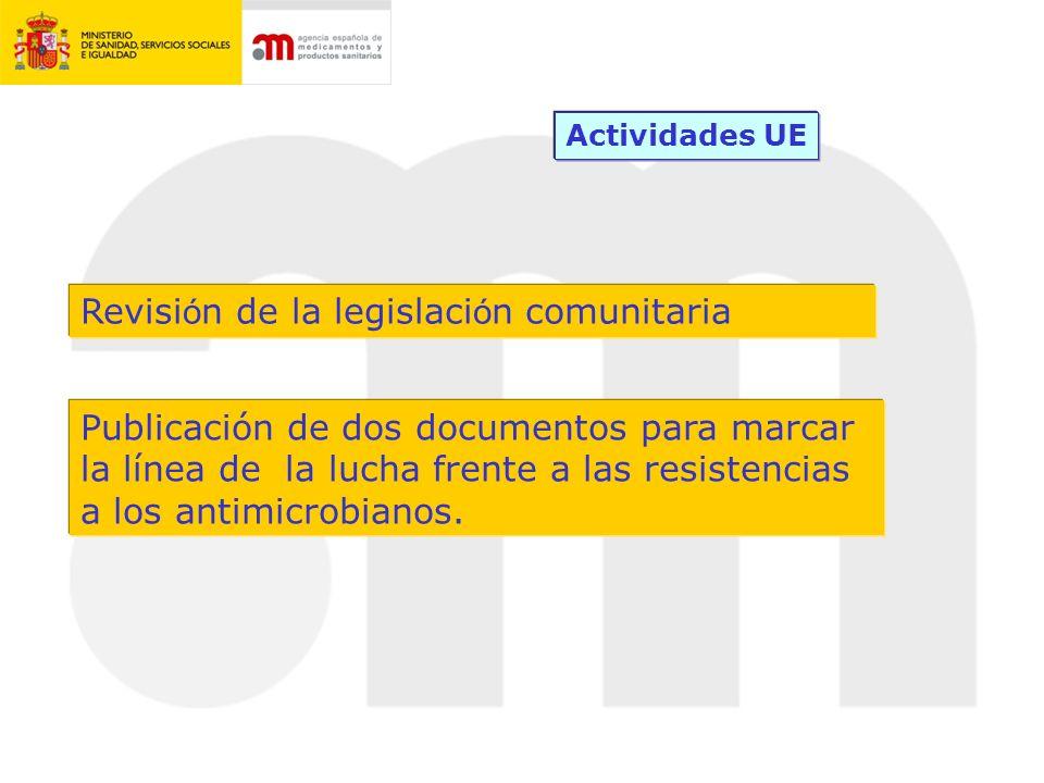 DOCUMENTOS EUROPEOS DE REFERENCIA COMUNICACION De la COMISIÓN EUROPEA del 17 de noviembre de 2011, estableciendo un Plan de Acción sobre Resistencias a los Antimicrobianos