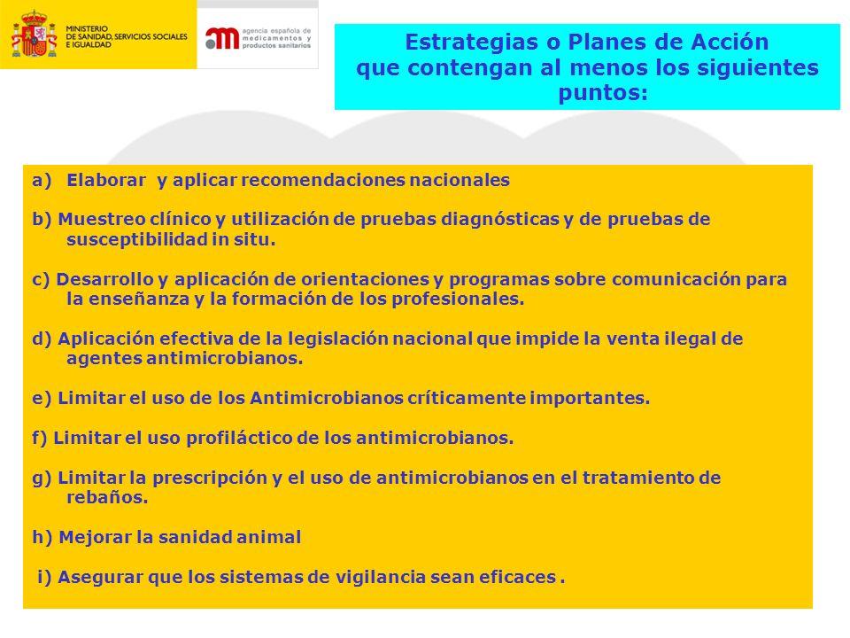 Plan Estrat é gico de Antimicrobianos 2011-2015 Actividades EMA Directriz Beneficio /Riesgo para Medicamentos Veterinarios Antimicrobianos Publicaci ó n de Recomendaciones para AM cr í ticos Participaci ó n el la TATFAR ( Transatlantic Taskforce on Antimicrobial Resistance) Proyecto ESVAC