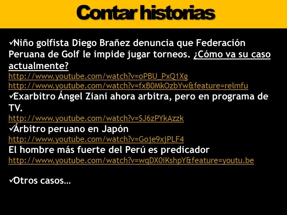 Contar historias Niño golfista Diego Brañez denuncia que Federación Peruana de Golf le impide jugar torneos. ¿Cómo va su caso actualmente? http://www.