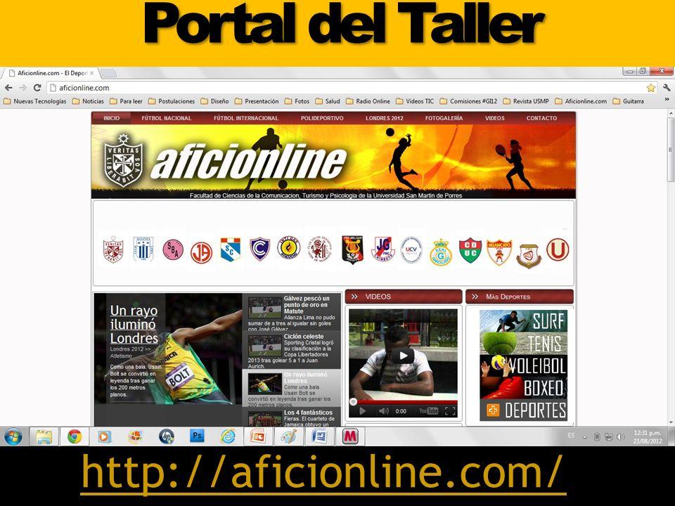 Portal del Taller http://aficionline.com/