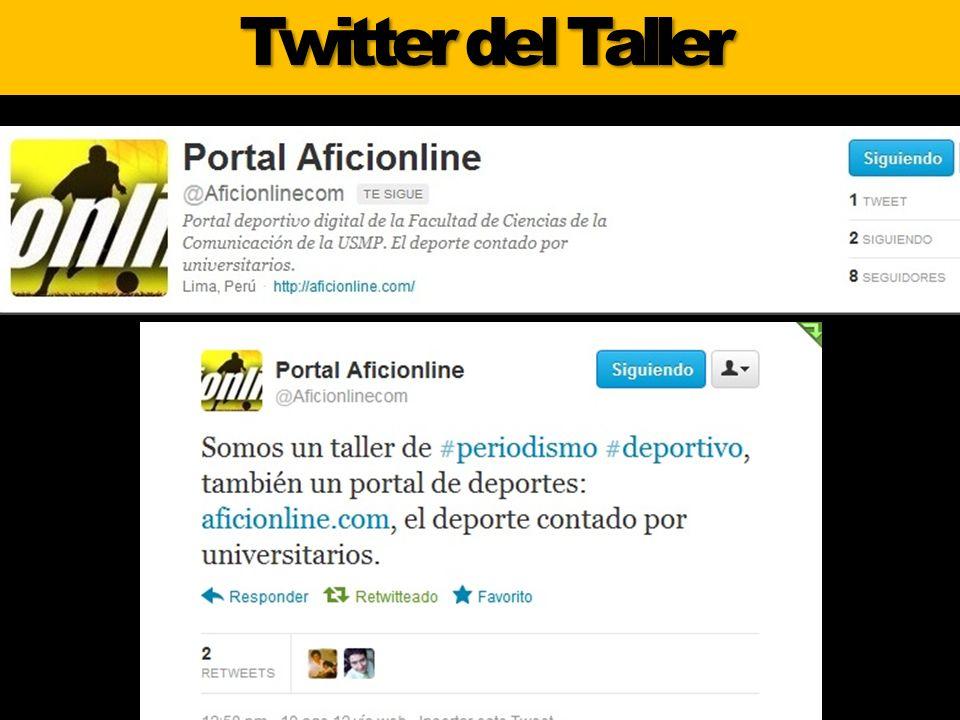 Twitter del Taller