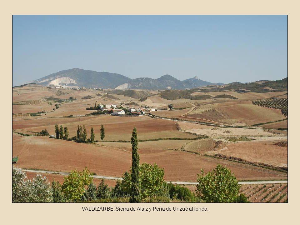 VALDIZARBE. Sierra de Alaiz y Peña de Unzué al fondo.