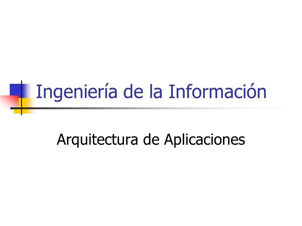 Ingeniería de la Información Arquitectura de Aplicaciones