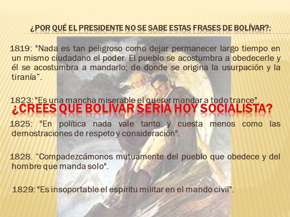 Karl Marx, creador de la teoría del socialismo científico (comunismo), se refirió a Simón Bolívar en 1858 como el
