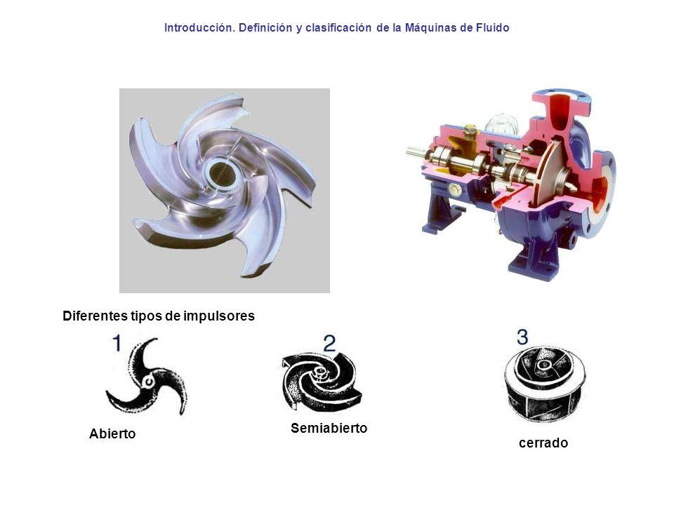 Diferentes tipos de impulsores Abierto Semiabierto cerrado