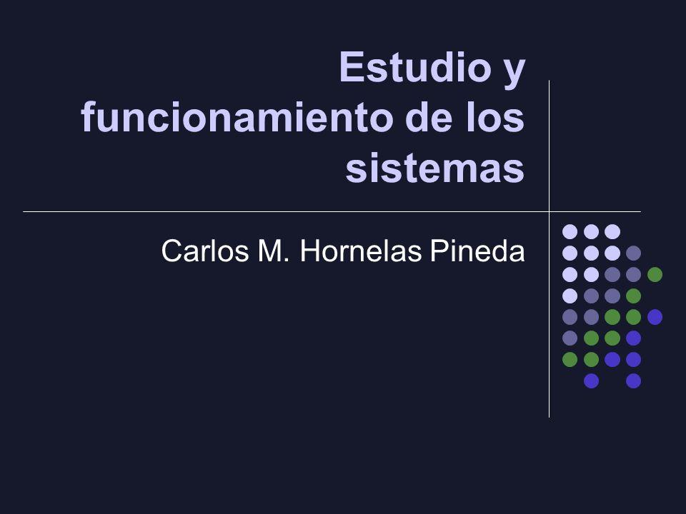Estudio y funcionamiento de los sistemas Carlos M. Hornelas Pineda