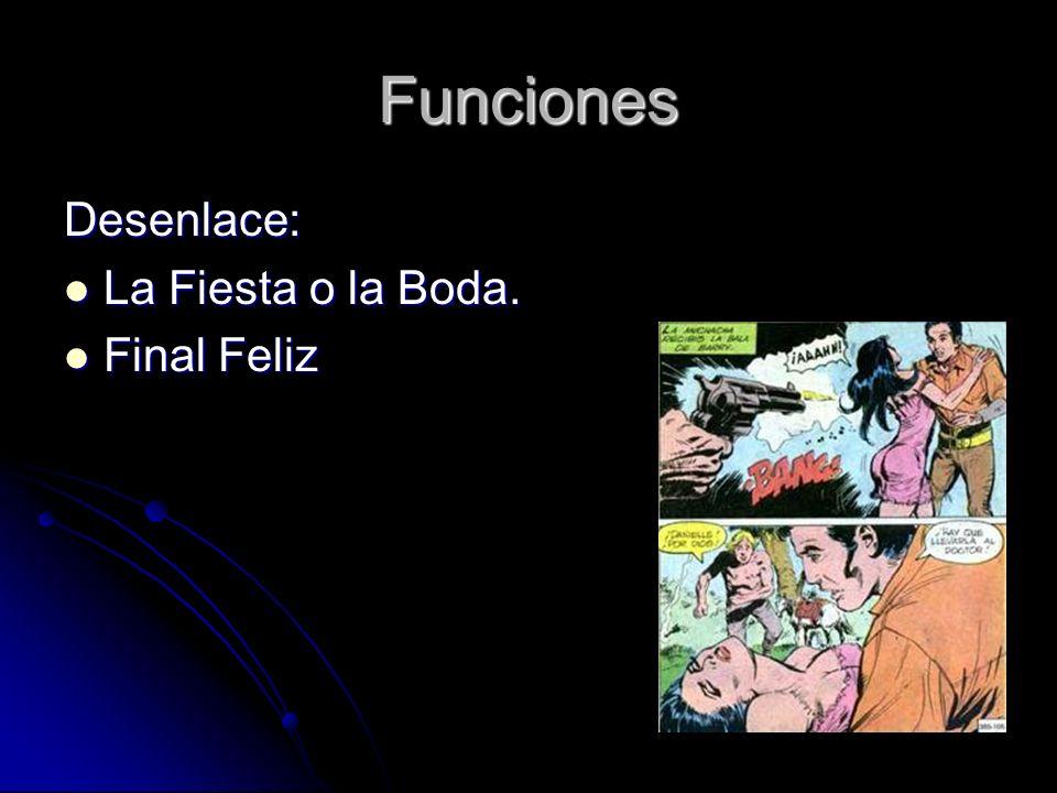 Funciones Desenlace: La Fiesta o la Boda. La Fiesta o la Boda. Final Feliz Final Feliz