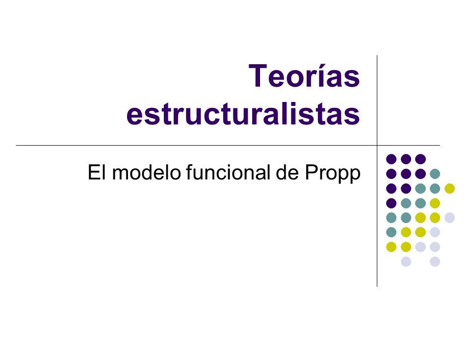 Teorías estructuralistas El modelo funcional de Propp