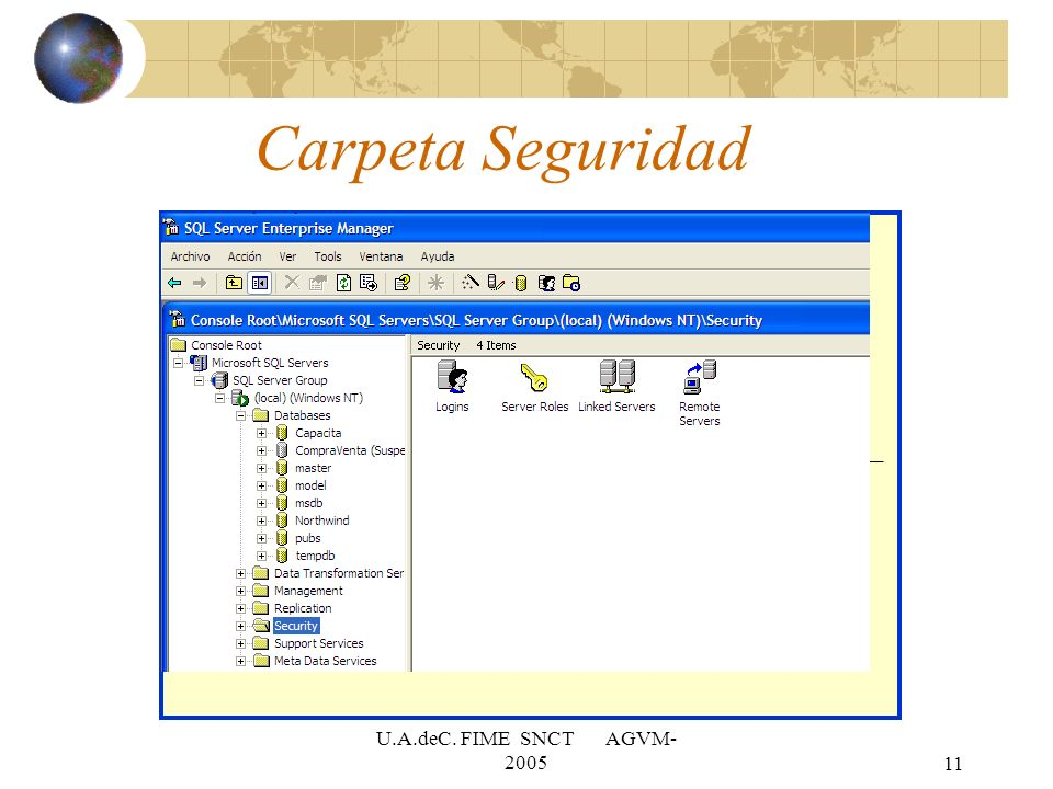 U.A.deC. FIME SNCT AGVM- 200511 Carpeta Seguridad