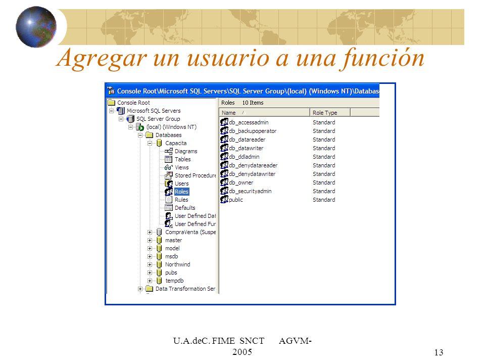 U.A.deC. FIME SNCT AGVM- 200513 Agregar un usuario a una función