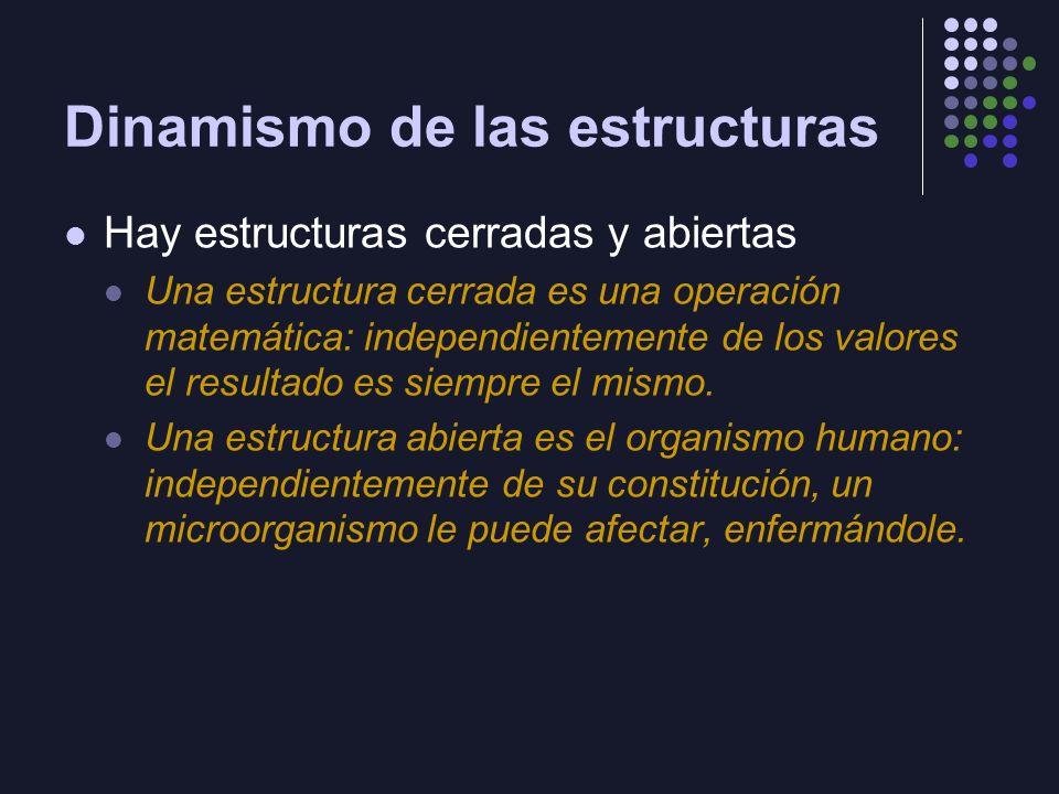 Posiciones estructurales Preformación o estructuras dadas Estructuración o estructuras emergentes Si cualquier cosa puede ser analizada como una estructura (un todo organizado por coordinación de sus partes): ¿Por qué las cosas están ordenadas.