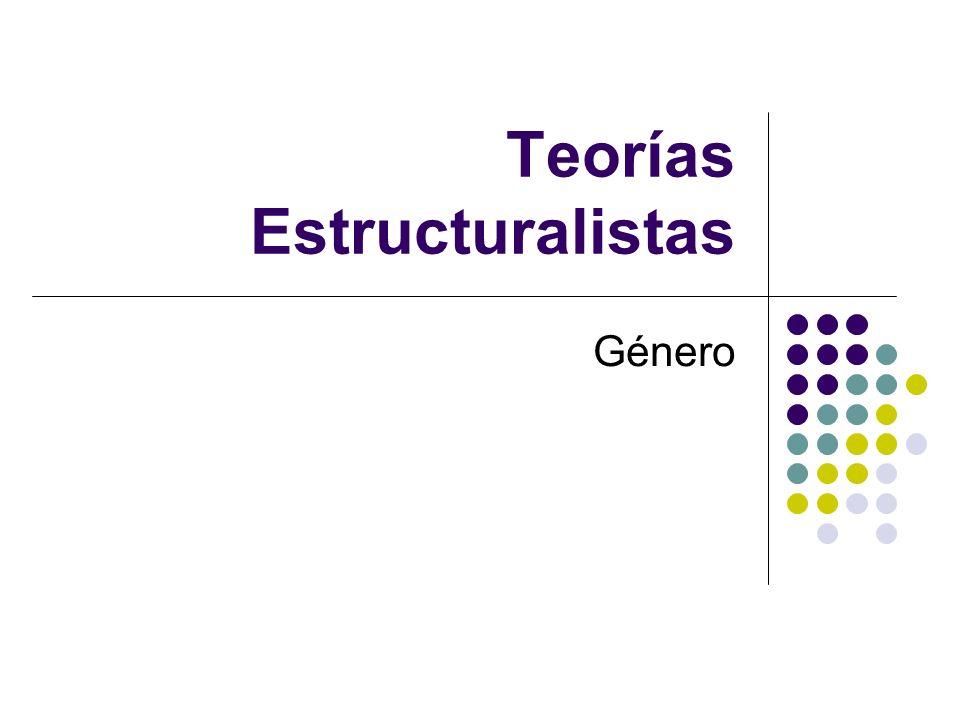 Teorías Estructuralistas Género