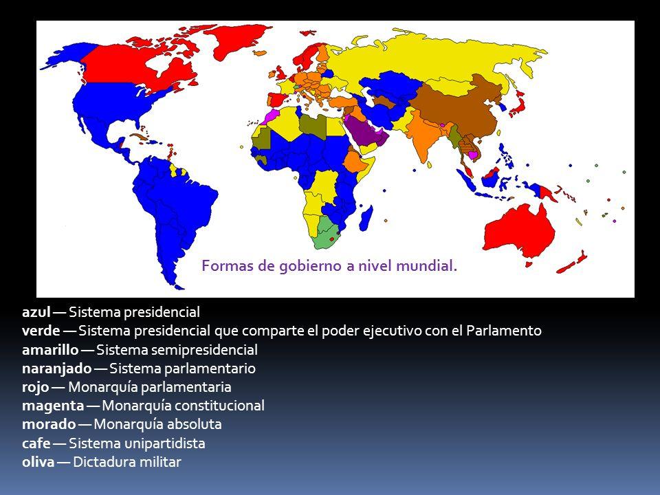 Clasificación de los países del mundo por su grado de libertad.