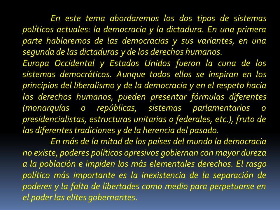 ÍNDICE.I. LOS SISTEMAS POLÍTICOS DEMOCRÁTICOS. 1.