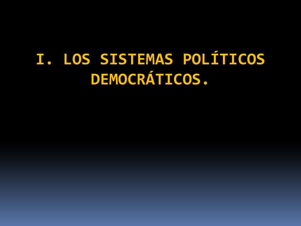 1.Sistemas parlamentaristas y presidencialistas. A) Sistemas democráticos parlamentaristas.
