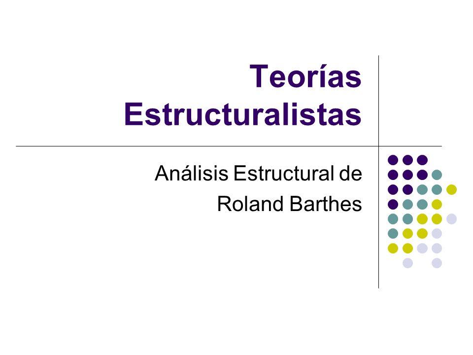 Análisis Estructural Método de análisis y descripción de la estructura del relato, basado en el modelo de la lingüística: la lengua de los relatos Tres niveles de descripción: Funciones Acciones Narración