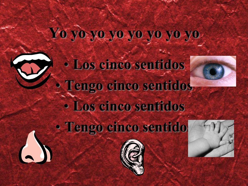 Los ojos, los ojos Yo veo con los ojos Los ojos, los ojos Yo veo con los ojos Yo veo yo veo yo veo veo veo Azul, y rojo, verde, amarillo Los ojos, los ojos yo veo con los ojos Los ojos, los ojos Yo veo con los ojos Los ojos, los ojos Yo veo con los ojos Yo veo yo veo yo veo veo veo Azul, y rojo, verde, amarillo Los ojos, los ojos yo veo con los ojos