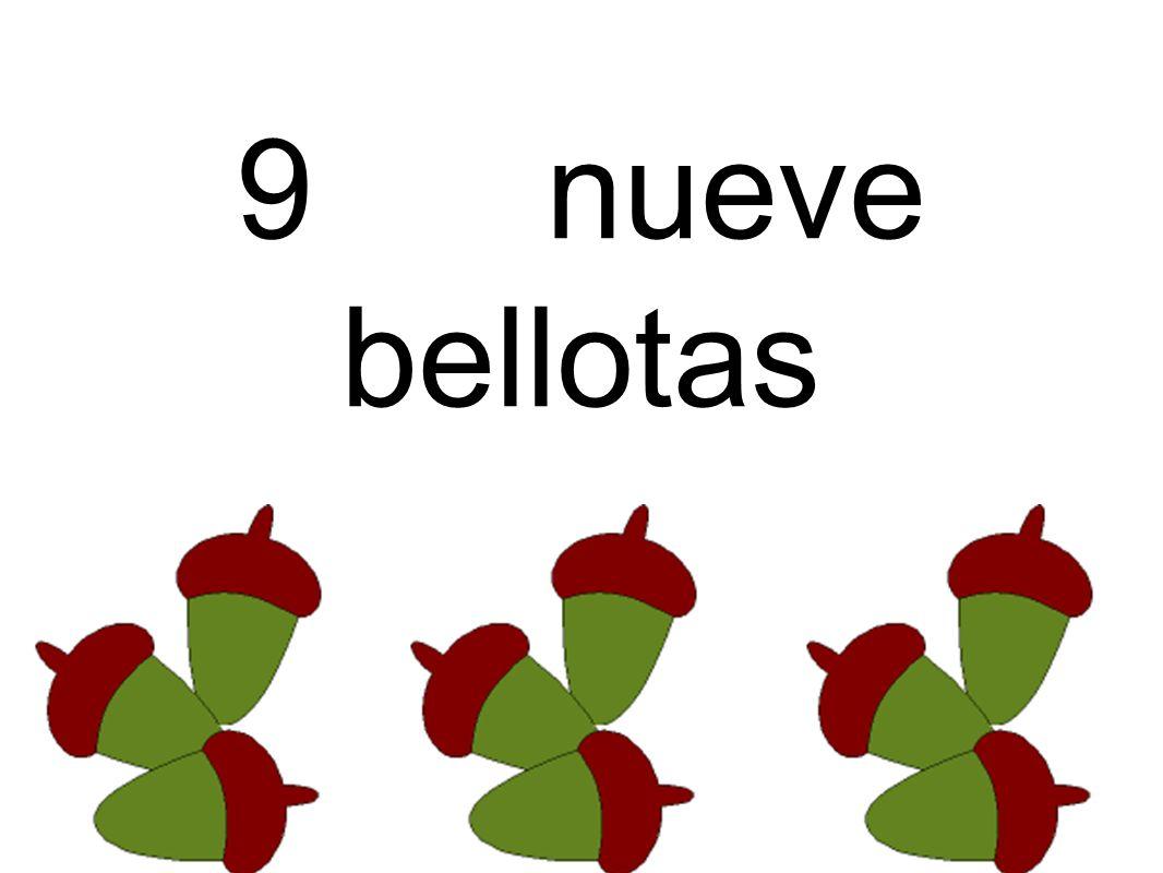 9 nueve bellotas